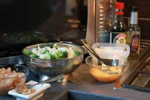 Get all your ingredients ready and to hand near your wok of you can.